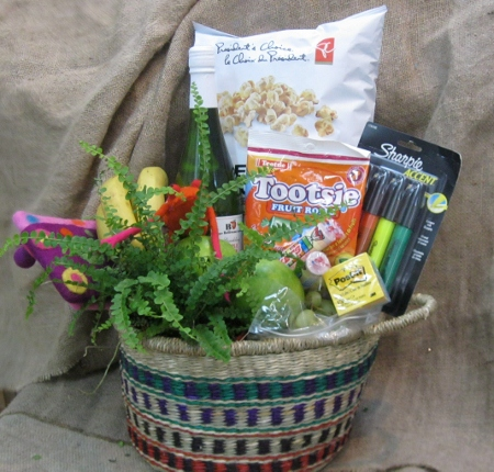 Student Basket with supplies and treats!
